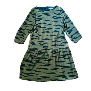 Country Road Women's A-Line Dress Size 8 Olive Green
